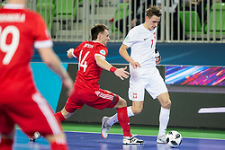 Mikolaj Zastawnik of Poland during futsal match between Russia and Poland at Day 1 of UEFA Futsal EURO 2018, on January 30, 2018 in Arena Stozice, Ljubljana, Slovenia. Photo by Ziga Zupan / Sportida