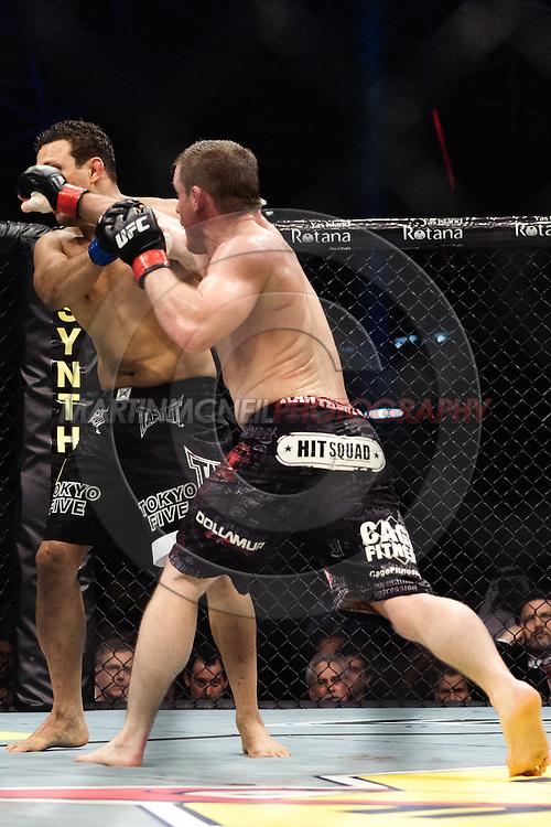 "ABU DHABI, UNITED ARAB EMIRATES, APRIL 10, 2010: Renzo Gracie (facing) and Matt Hughes at ""UFC 112: Invincible"" inside Ferari World, Abu Dhabi on April 10, 2010"
