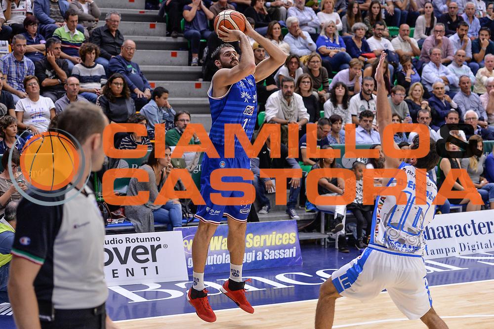 DESCRIZIONE : Beko Legabasket Serie A 2015- 2016 Dinamo Banco di Sardegna Sassari - Enel Brindisi<br /> GIOCATORE : Andrea Zerini<br /> CATEGORIA : Tiro Tre Punti Three Point<br /> SQUADRA : Enel Brindisi<br /> EVENTO : Beko Legabasket Serie A 2015-2016<br /> GARA : Dinamo Banco di Sardegna Sassari - Enel Brindisi<br /> DATA : 18/10/2015<br /> SPORT : Pallacanestro <br /> AUTORE : Agenzia Ciamillo-Castoria/L.Canu