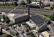 aerial photograph of Damart Mill Bingley  Bradford  Yorkshire  England UK
