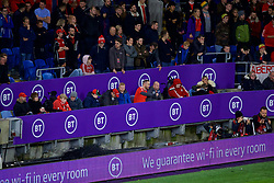CARDIFF, WALES - Sunday, October 13, 2019: Wales' disabled viewing platform during the UEFA Euro 2020 Qualifying Group E match between Wales and Croatia at the Cardiff City Stadium. (Pic by Paul Greenwood/Propaganda)