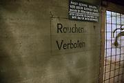 Rauchen Verboten sign, German Underground Military hospital, Guernsey, Channel Islands, UK