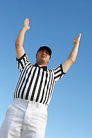Referee Signaling Touchdown