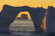 Icebergs at Sunset<br /> Wedell Sea, Antarctica