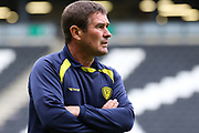 Burton Albion manager Nigel Clough during the EFL Sky Bet League 1 match between Milton Keynes Dons and Burton Albion at stadium:mk, Milton Keynes, England on 5 October 2019.