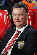 Manchester United Manager Louis van Gaal during the Champions League Group B match between PSV Eindhoven and Manchester United at Philips Stadion, Eindhoven, Netherlands on 15 September 2015. Photo by Phil Duncan.