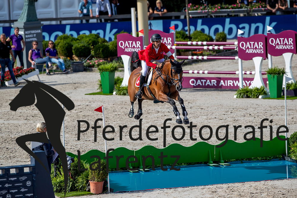 GUERDAT Steve (SUI), ALBFUEHREN'S BIANCA<br /> Rotterdam - Europameisterschaft Dressur, Springen und Para-Dressur 2019<br /> Longines FEI Jumping European Championship - 1st part - speed competition against the clock<br /> 1. Runde Zeitspringen<br /> 21. August 2019<br /> © www.sportfotos-lafrentz.de/Stefan Lafrentz