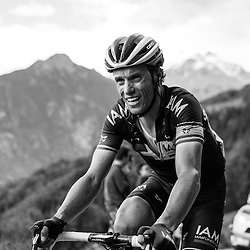 The Mortirolo is a super hard climb - evinced on Sylvain Chavanel's game face.