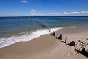 "Sylt, Germany. Ellenbogen (Elbow), ""Buhnen"" (groynes) at Sylt's Northernmost point."