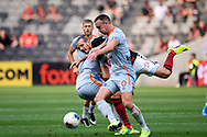 SYDNEY, AUSTRALIA - NOVEMBER 02: Western Sydney Wanderers forward Alex Meier (14) goeds over a defender during the round 4 A-League soccer match between Western Sydney Wanderers FC and Brisbane Roar FC on November 02, 2019 at Bankwest Stadium in Sydney, Australia. (Photo by Speed Media/Icon Sportswire)