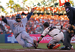 Buster Posey tags out Prince Fielder in Game 2, 2012 World Series Champion Giants