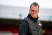Newport County Manager Michael Flynn during the The FA Cup match between Grimsby Town FC and Newport County at Blundell Park, Grimsby, United Kingdom on 9 November 2019.