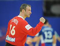 Handball EM Herren 2010 Hauptrunde Deutschland - Frankreich 24.01.2010 Thierry Omeyer (FRA) jubelt