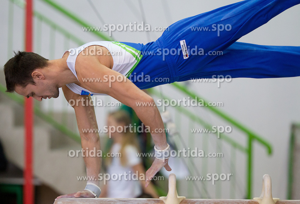 Saso Bertoncelj during Slovenian Artistic Gymnastics National Chapionship 2011, on November 20, 2011 in GIB Arena, Ljubljana, Slovenia. (Photo By Vid Ponikvar / Sportida.com)