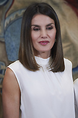 Queen Letizia attends audiences at Zarzuela Palace - 05 July 2018