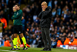 Manchester City manager Pep Guardiola cuts a dejected figure - Mandatory by-line: Robbie Stephenson/JMP - 26/11/2019 - FOOTBALL - Etihad Stadium - Manchester, England - Manchester City v Shakhtar Donetsk - UEFA Champions League Group Stage