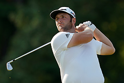 August 11, 2018 - St. Louis, Missouri, United States - Jon Rahm tees off during the third round of the 100th PGA Championship at Bellerive Country Club. (Credit Image: © Debby Wong via ZUMA Wire)