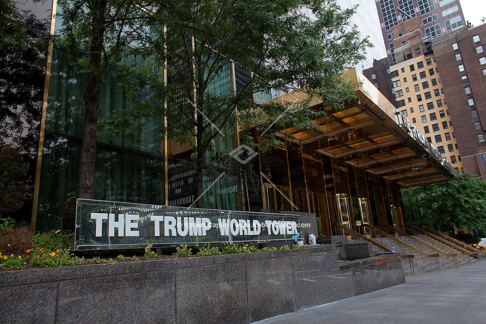 Exterior of Trump World Building where Joel Segal's  home-office is located in New York, NY on Wednesday, July 1, 2009.