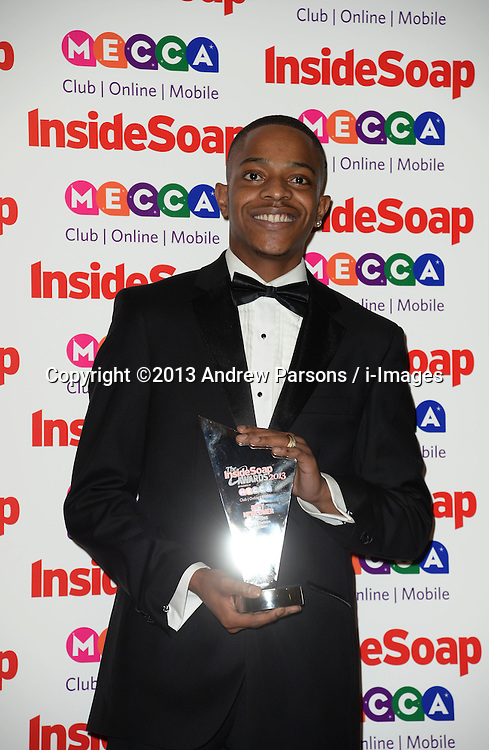 Inside Soap Awards.<br /> Khali Best arrives for the Inside Soap Awards, Ministry of Sound, London, United Kingdom,<br /> Monday, 21st October 2013. Picture by Andrew Parsons / i-Images