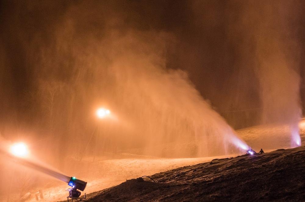 Snow production i Hafjell