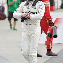 2nd place for Valtteri Bottas, Mercedes AMG Petronas F1 Team.<br /> <br /> Round 1 - 3rd day of the 2017 Formula 1 Rolex Australian Grand Prix at The circuit of Albert Park, Melbourne, Victoria on the 25th March 2017.<br /> Wayne Neal | SportPix.org.uk