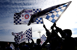 Hartlepool United flags wave in the air - Mandatory by-line: Robbie Stephenson/JMP - 06/05/2017 - FOOTBALL - The Northern Gas and Power Stadium (Victoria Park) - Hartlepool, England - Hartlepool United v Doncaster Rovers - Sky Bet League Two