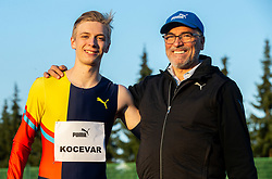 Father Mitja Kocevar (R) with son Nik Kocevar, 19 years old athlete, his mayor categories are 100 m and 200 m. He has Slovenian and German Citizenship and deciding for what country will compete, on April 16, 2019, in ZAK, Ljubljana, Slovenia. Photo by Vid Ponikvar / Sportida