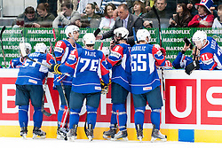 Slovenian bench during ice-hockey match between Slovenia and Belarus of Group G in Relegation Round of IIHF 2011 World Championship Slovakia, on May 8, 2011 in Orange Arena, Bratislava, Slovakia. (Photo by Matic Klansek Velej / Sportida)