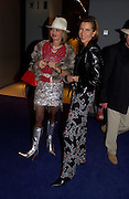 Maya Flick and Katrin Henkel, Valentine's party, Fundraising Gala for the Royal Academy in the armani exhibition,  12 February 2004.  AS AGREED-ONE TIME USE ONLY DO NOT ARCHIVE © Copyright Photograph by Dafydd Jones 66 Stockwell Park Rd. London SW9 0DA Tel 020 7733 0108 www.dafjones.com