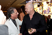 ALAN ENFIELD; ROSS KEMP, Stephane St. Jaymes Spring Summer 2011 fashion show.<br /> The Westbury Mayfair, Bond Street, London,DO NOT ARCHIVE-© Copyright Photograph by Dafydd Jones. 248 Clapham Rd. London SW9 0PZ. Tel 0207 820 0771. www.dafjones.com.