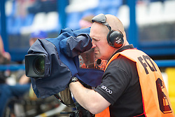 OSIJEK, CROATIA - Sunday, May 23, 2010: Sgorio's television cameraman during the International Friendly match bwteen Croatia and Wales at the Stadion Gradski Vrt. (Pic by David Rawcliffe/Propaganda)