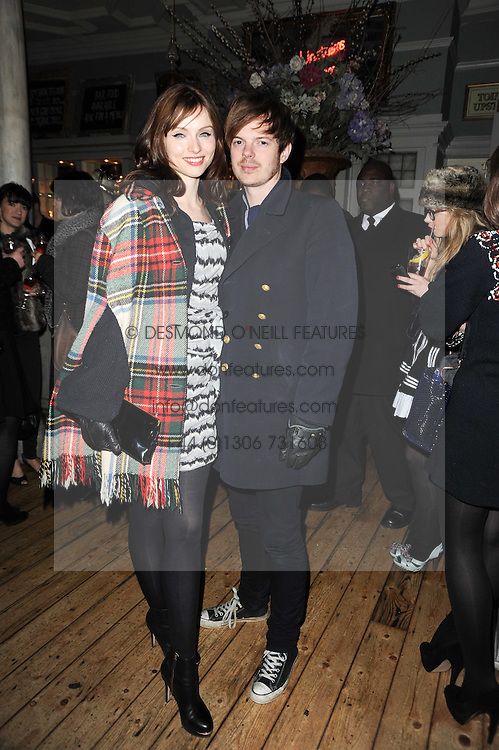 SOPHIE ELLIS-BEXTOR and RICHARD JONES at a party to celebrate the 1st anniversary of Alice Temperley's label held at Paradise, Kensal Green, London W10 on 25th November 2010.