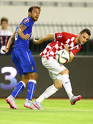 12.06.2015, Stadion Poljud, Split, CRO, UEFA Euro 2016 Qualifikation, Kroatien vs Italien, Gruppe H, im Bild Claudio Marchisio, Marcelo Brozovic // during the UEFA EURO 2016 qualifier group H match between Croatia and and Italy at the Stadion Poljud in Split, Croatia on 2015/06/12. EXPA Pictures © 2015, PhotoCredit: EXPA/ Pixsell/ Slavko Midzor<br /> <br /> *****ATTENTION - for AUT, SLO, SUI, SWE, ITA, FRA only*****