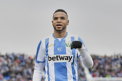 February 10, 2019 - Madrid, Madrid, Spain - CD Leganes's Youssef En-Nesyri celebrates goal during La Liga match between CD Leganes and Real Betis Balompie at Butarque Stadium in Madrid, Spain. February 10, 2019. (Credit Image: © A. Ware/NurPhoto via ZUMA Press)
