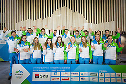 Slovenian team during presentation of Team Slovenia at Lillehammer 2016 Winter Youth Olympic games, on February 4, 2016 on Bled, Slovenia. Photo by Ziga Zupan / Sportida
