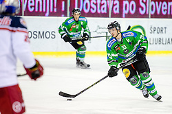 Jure Sotlar of Olimpija during ice-hockey match between HDD Tilia Olimpija and EC Red Bull Salzburg in EBEL league, on January 10, 2016 at Hala Tivoli, Ljubljana, Slovenia. Photo by Morgan Kristan / Sportida