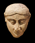 head of a female figure from Mesopotamia, Babylonian. 2000 -1600 BC