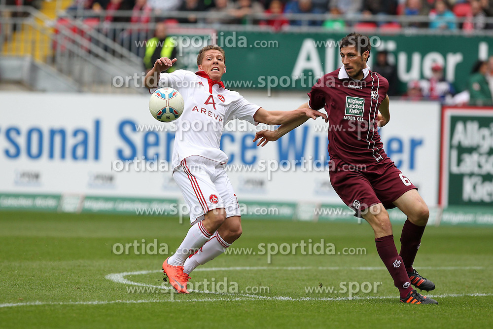 14.04.2012, Fritz Walter Stadion, Kaiserslautern, GER, 1.FC Kaiserslautern vs 1. FC Nuernberg, 31. Spieltag, im Bild Mike FRANTZ (1.FC Nuernberg), Freisteller, Aktion /Action // during the German Bundesliga Match, 31th Round between 1.FC Kaiserslautern and 1. FC Nuernberg at the Fritz Walter Stadium, Kaiserslautern, Germany on 2012/04/14. EXPA Pictures © 2012, PhotoCredit: EXPA/ Eibner/ Alexander Neis..***** ATTENTION - OUT OF GER *****