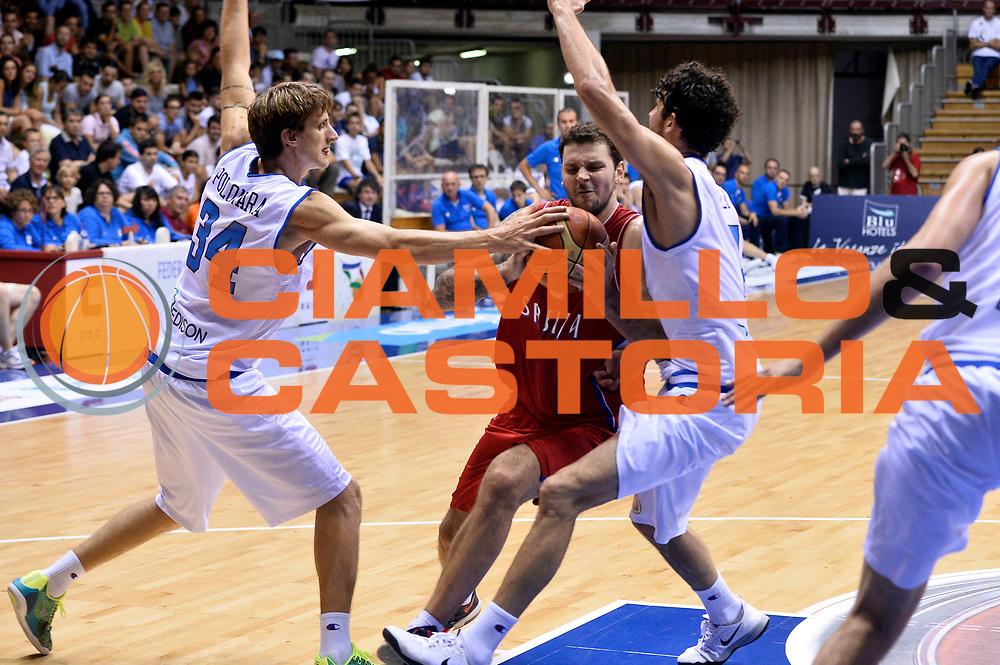 DESCRIZIONE : Trieste Nazionale Italia Uomini Torneo internazionale Italia Serbia Italy Serbia<br /> GIOCATORE : Vladimir Micov<br /> CATEGORIA : Penetrazione<br /> SQUADRA : Serbia Serbia<br /> EVENTO : Torneo Internazionale Trieste<br /> GARA : Italia Serbia Italy Serbia<br /> DATA : 05/08/2014<br /> SPORT : Pallacanestro<br /> AUTORE : Agenzia Ciamillo-Castoria/GiulioCiamillo<br /> Galleria : FIP Nazionali 2014<br /> Fotonotizia : Trieste Nazionale Italia Uomini Torneo internazionale Italia Serbia Italy Serbia