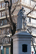 Statue of Triso de Molina (a Spanish Baroque dramatist, poet and Roman Catholic monk) at Plaza de Triso de Molina, Madrid, Spain.