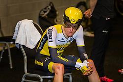 KRUIJSWIJK Steven from the Netherlands of Team Lotto NL - Jumbo (NED) before the start at velodrome Omnisport, stage 1 (ITT) from Apeldoorn to Apeldoorn running 9,8 km of the 99th Giro d'Italia (UCI WorldTour), The Netherlands, 6 May 2016. Photo by Pim Nijland / PelotonPhotos.com | All photos usage must carry mandatory copyright credit ( Peloton Photos | Pim Nijland)