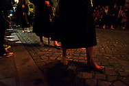 Farricocos walking barefoot on the Ecce Homo procession