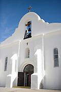 San Elizario Chapel on the Mission Trail near El Paso, Texas. The church uses the original name of San Elecario Catholic Church.