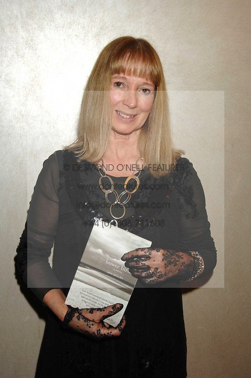Writer ANN KELLEY at the 2007 Costa Book Awards held at The Intercontinental Hotel, One Hamilton Place, London W1 on 22nd January 2008.<br /><br />NON EXCLUSIVE - WORLD RIGHTS (EMBARGOED FOR PUBLICATION IN UK MAGAZINES UNTIL 1 MONTH AFTER CREATE DATE AND TIME) www.donfeatures.com  +44 (0) 7092 235465