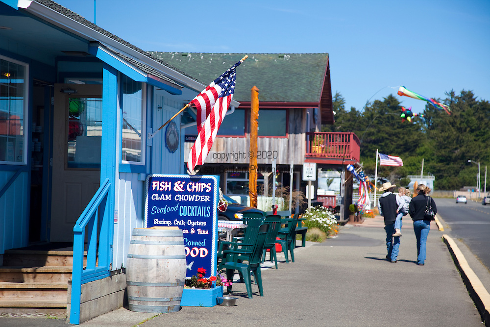 Fish and Chips Chowder House in Old Town Bandon, Oregon