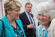 CLARE BALDING; JILLY COOPER, Cartier Queen's Cup final at Guards Polo Club, Windsor Great Park. 16 June 2013
