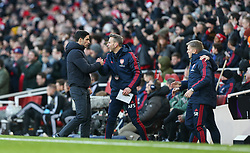 Arsenal manager Mikel Arteta celebrates the opening goal scored by Gabriel Martinelli of Arsenal - Mandatory by-line: Arron Gent/JMP - 18/01/2020 - FOOTBALL - Emirates Stadium - London, England - Arsenal v Sheffield United - Premier League