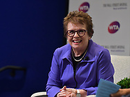 The WSJ Plus and WTA Interview with Billie Jean King in New York City on August 23, 2017. (photo by Gabe Palacio)