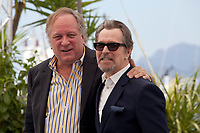 Producer Douglas Urbanski and Gary Oldman at the Rendezvous with Gary Oldman photo call at the 71st Cannes Film Festival, Thursday 17th May 2018, Cannes, France. Photo credit: Doreen Kennedy