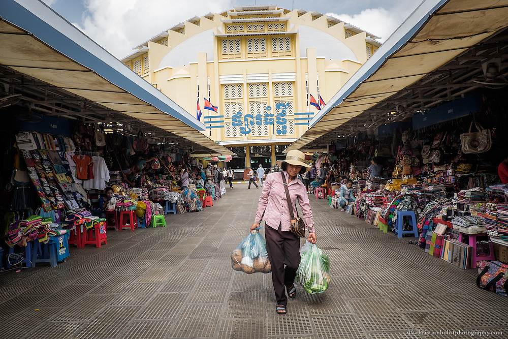 The French architect Louis Chauchon built the central market in Phnom Penh, in Cambodian Phsar Thmey, in 1937. At the opening in 1937, Phsar Thmey counted as the biggest market hall of Asia. The market was renovated from 2001 to 2009 with the help of 4.3 billion dollars from French aid funds.